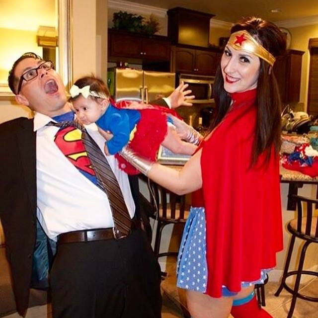 whole family involved in the superhero fun when you have mom dress up like wonder woman dad can be superman and suit up your toddler as a super baby