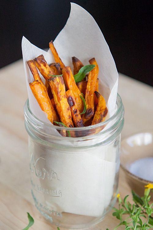 Garlic & Tarragon Sweet Potato Fries