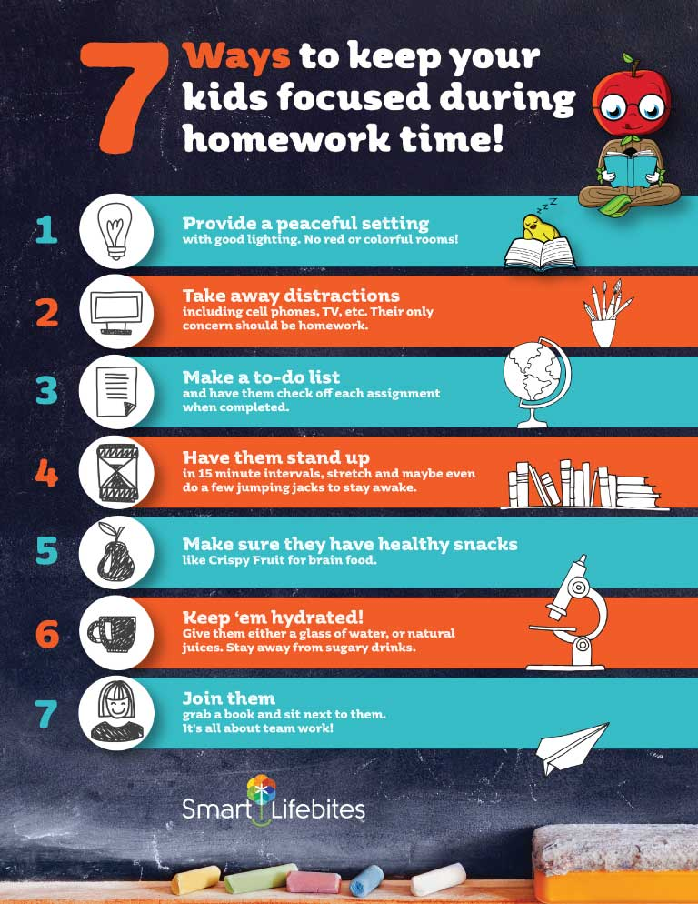 7 Ways To Keep Kids Focused During Homework Time