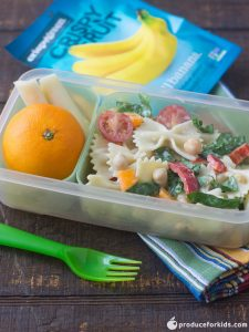 Example of school lunch meal.